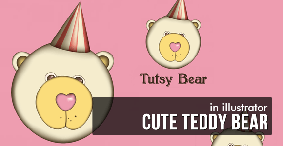 Cute Retro-Flavored Teddy Bear - Illustrator Tutorial