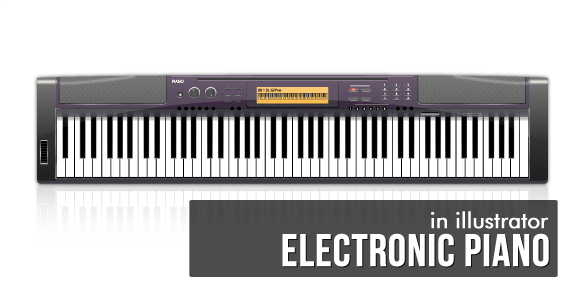 How to Create an Electronic Piano in Illustrator - Illustrator Tutorial