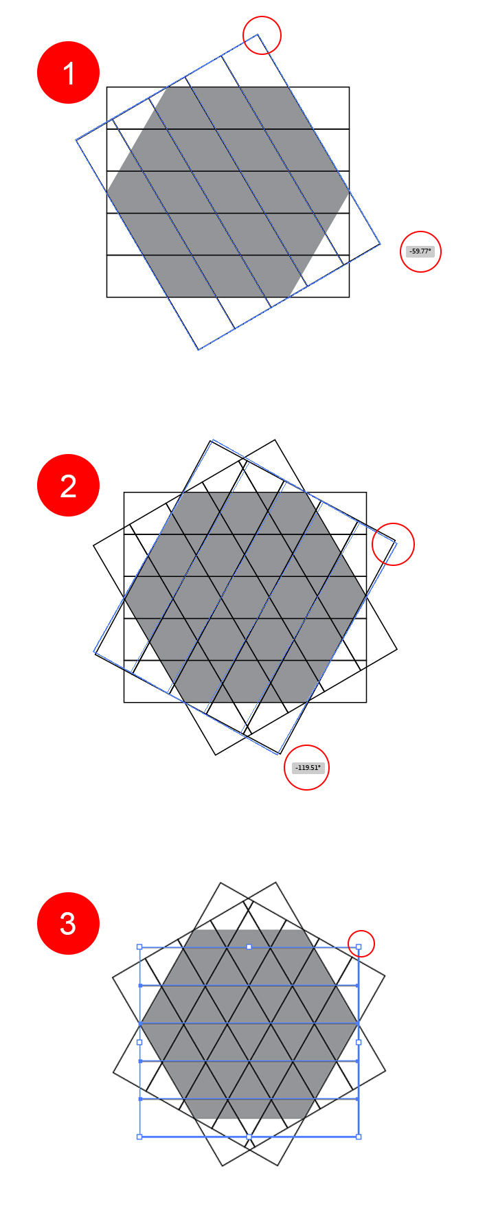 duplicate square and adjust at different angles