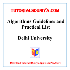 Algorithms Guidelines and Programs List PDF