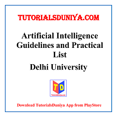 Artificial Intelligence Guidelines and Programs List PDF