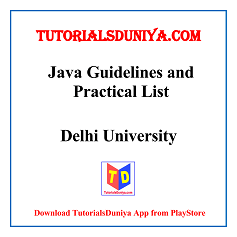 Java Guidelines and Programs List PDF