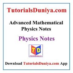 Advanced Mathematical Physics Notes PDF