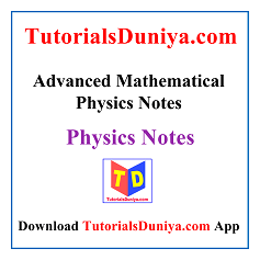 Advanced Mathematical Physics Handwritten Notes PDF