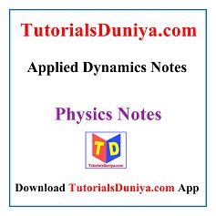 Applied Dynamics Notes PDF