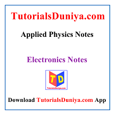 Applied Physics Notes PDF