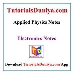 Applied Physics Handwritten Notes PDF