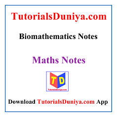 Biomathematics Notes PDF