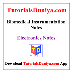 Biomedical Instrumentation Lecture Notes PDF