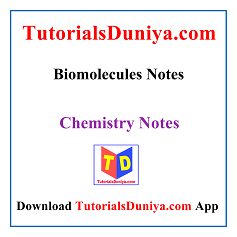 Biomolecules Notes PDF