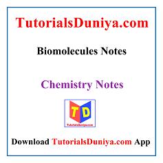 Biomolecules Handwritten Notes PDF