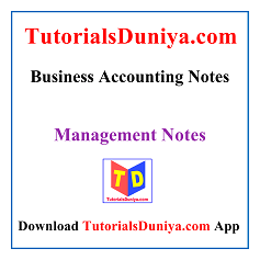 Business Accounting Notes PDF