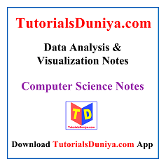 Data Analysis & Visualization Notes PDF