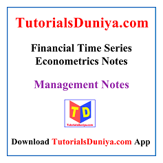 Financial Time Series Econometrics Notes PDF
