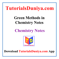 Green Methods in Chemistry Notes PDF