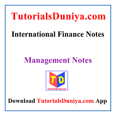 International Finance Notes PDF