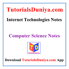 Internet Technologies Notes PDF