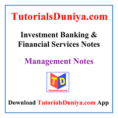 Investment Banking and Financial Services Notes PDF