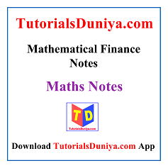 Mathematical Finance Notes PDF