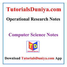 Operational Research Notes PDF