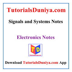 Signals and Systems Notes PDF
