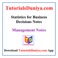 Statistics for Business Decisions Notes PDF