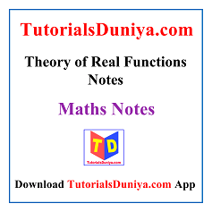 Theory of Real Functions Notes PDF