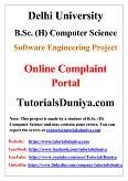 Online Complaint Portal Software Engineering Project PDF