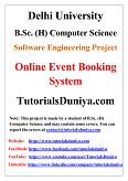 Online Event Booking System Software Engineering Project PDF