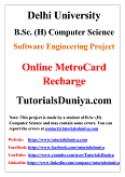Online MetroCard Recharge Software Engineering Project PDF