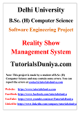 Reality Show Management Software Engineering Project PDF