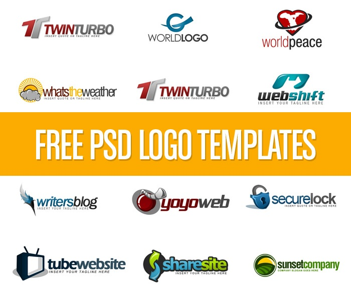 350 Logo Design PSD's Free Download With Tutorial • How-tos, Tech