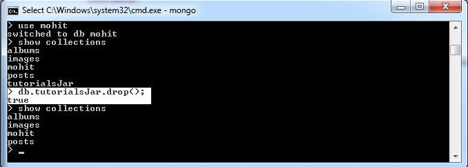 MongoDB Drop Collection Command With Example1