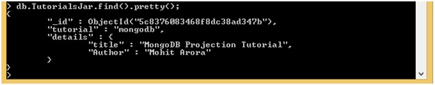 MongoDB Projections in Embedded Document