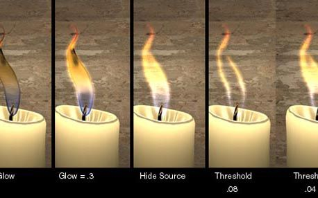 Flame Glow in The Ultimate Collection Of Maya 3D Tutorials