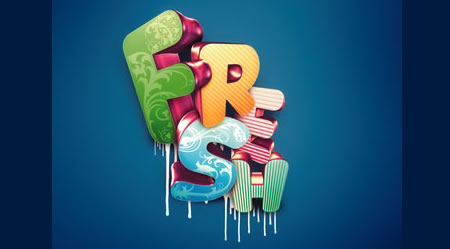 Textart11 in 40+ Killer Typographic Posters, Photoshop Effects and Tutorials
