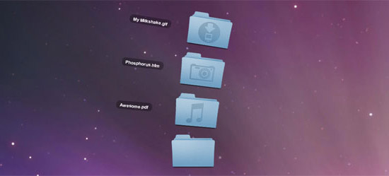 OSX Fan Effect Using CSS3 Animations