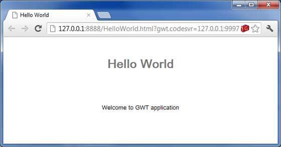 GWT Application Result2