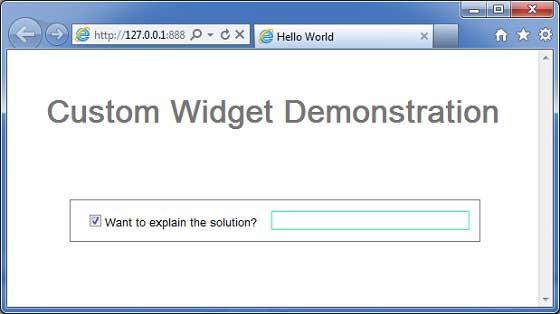 GWT Custom Widget