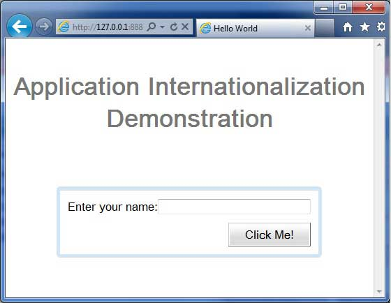 GWT Internationalization Demo