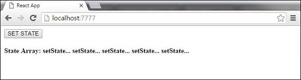 React Component API Set State