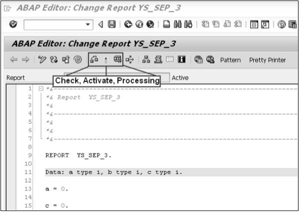 Activating and Processing Reports
