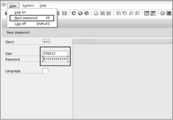SAP Login Screen
