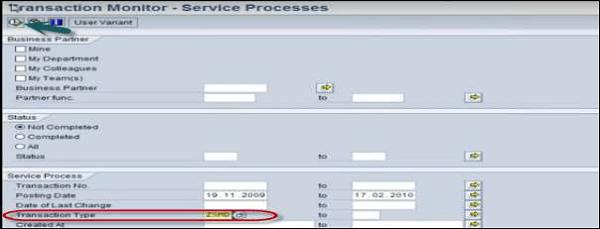 Monitor de Transação