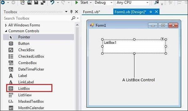Listbox in VB Net     Computer Hindi Notes
