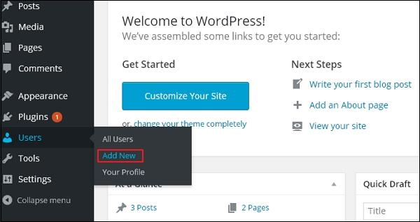 WordPress Add Users