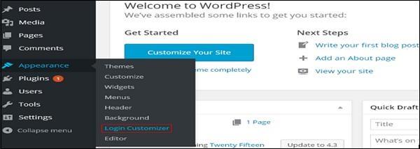 wordPress customize plugins