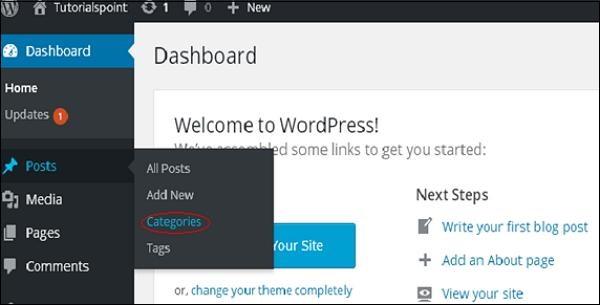WordPress delete category