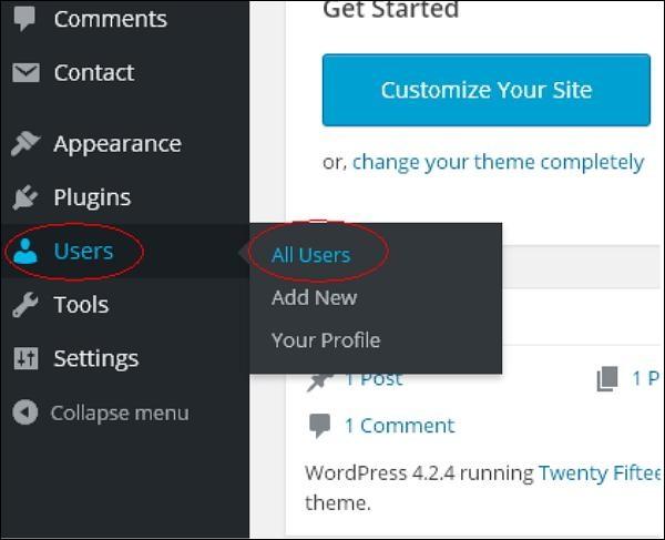 WordPress Delete User