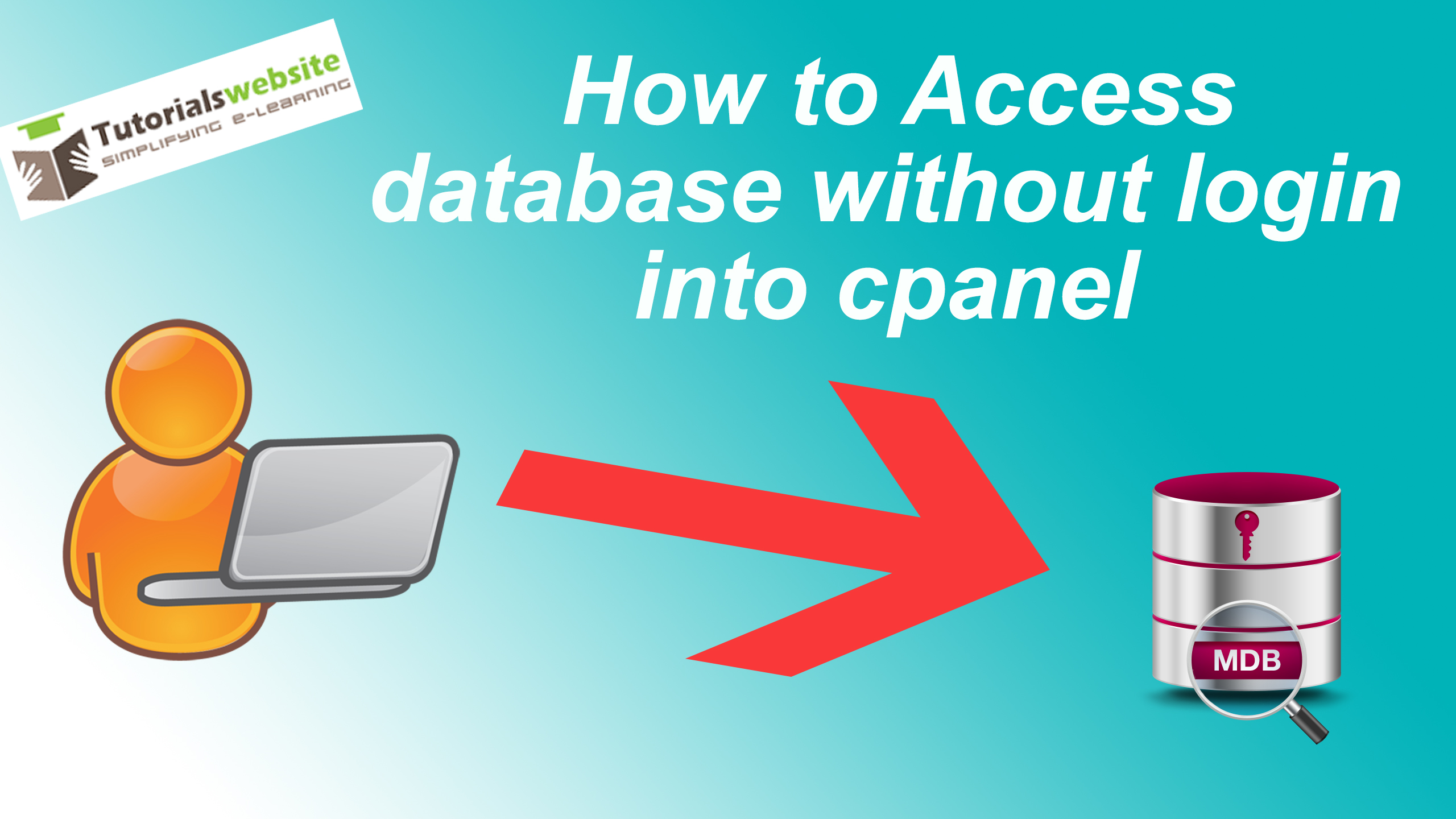 How to access database without login into cpanel from my domain name